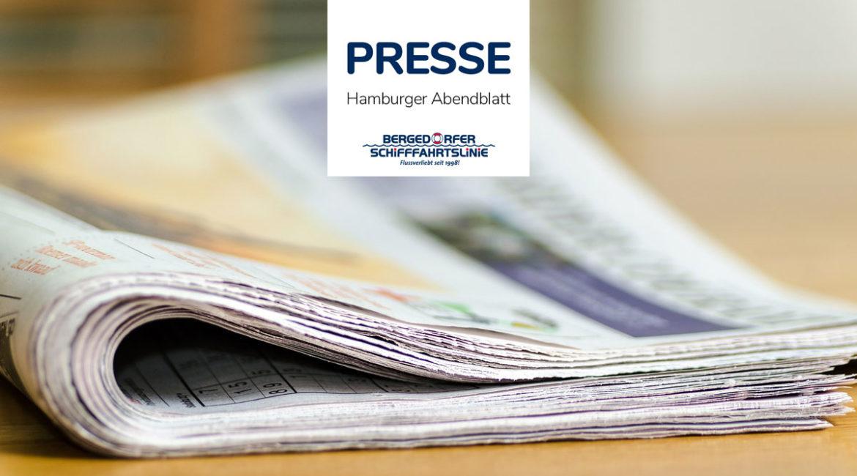 DIE BERGEDORFER SCHIFFFAHRTSLINIE IM HAMBURGER ABENDBLATT