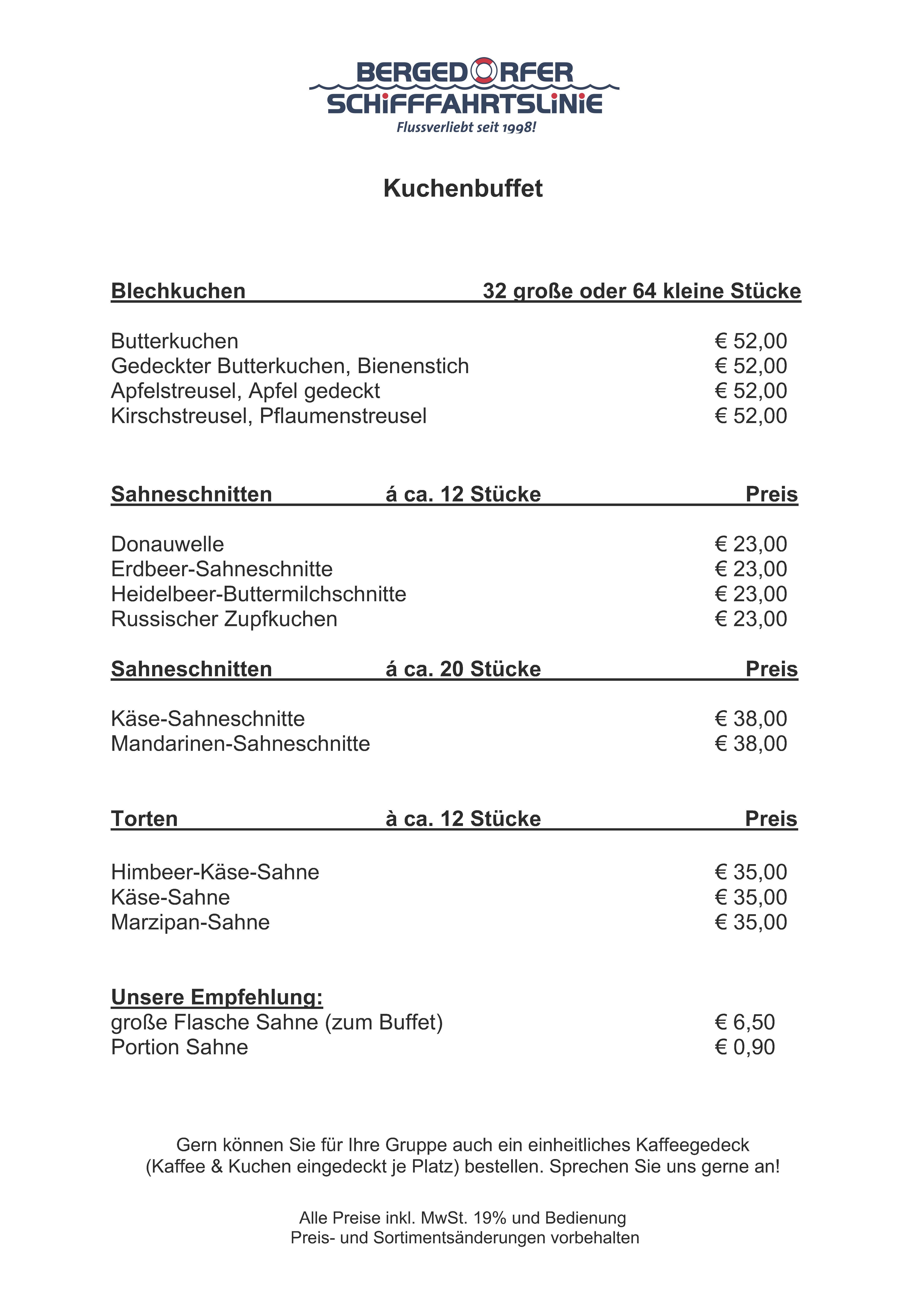 CH Kuchenbuffet